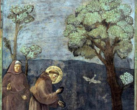 Giotto_-_Legend_of_St_Francis_-_-15-_-_Sermon_to_the_Birds_klein